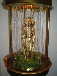 Hanging Goddess Oil Rain Swag Lamp