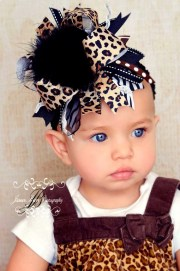 over top leopard print hair