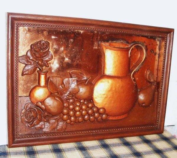 Retro Copper 3d Framed Art Kitchen Decor Vintage