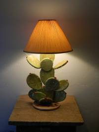 Prickly Pear Cactus Table Lamp by DesertGallery on Etsy