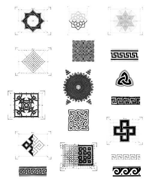 Set mit 17 Motiven als digitaler download Symbole Knoten