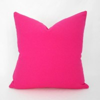 Hot Pink Pillow Covers ANY SIZE Decorative Pillow Cover