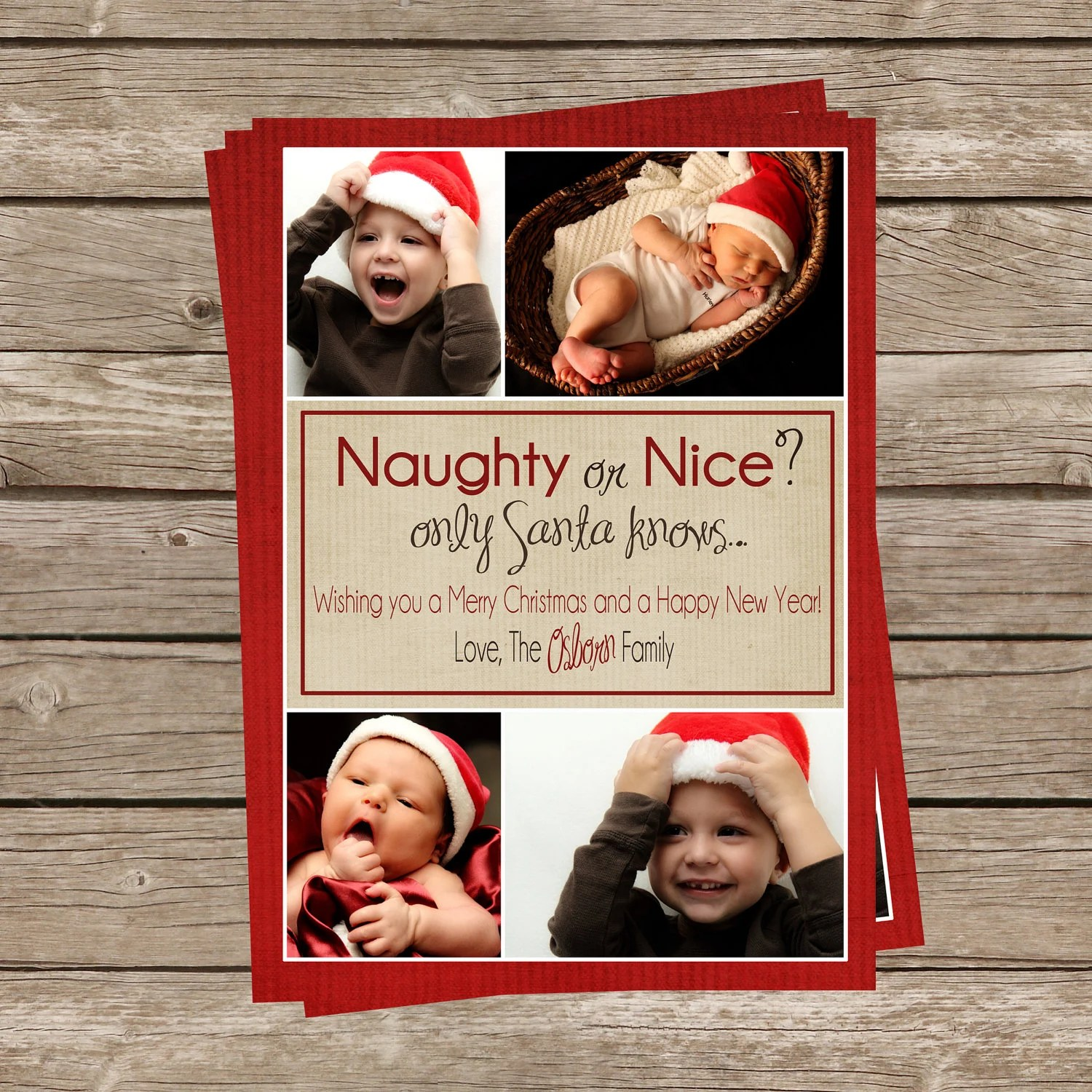 Naughty Or Nice DIY Christmas Card By JenisPaperShoppe On Etsy