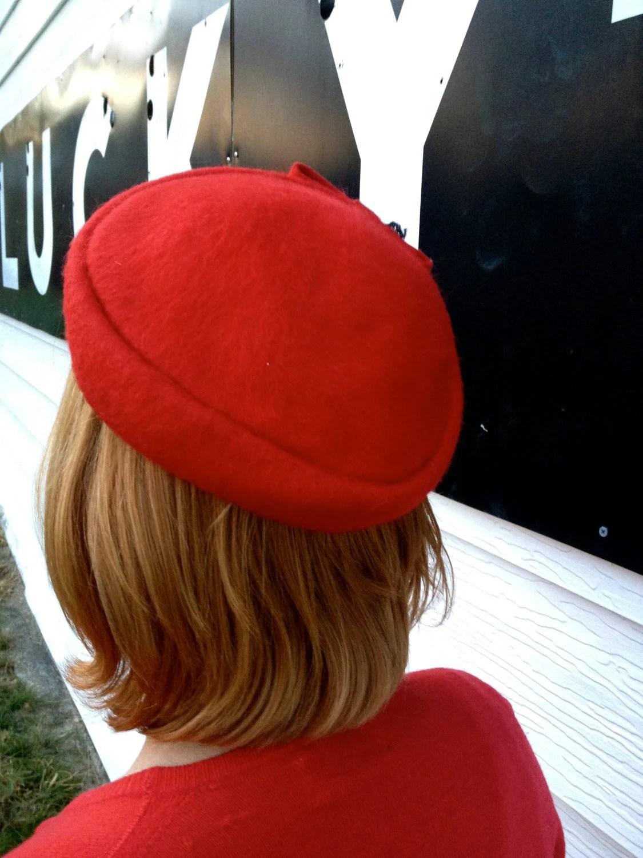 vintage red cap