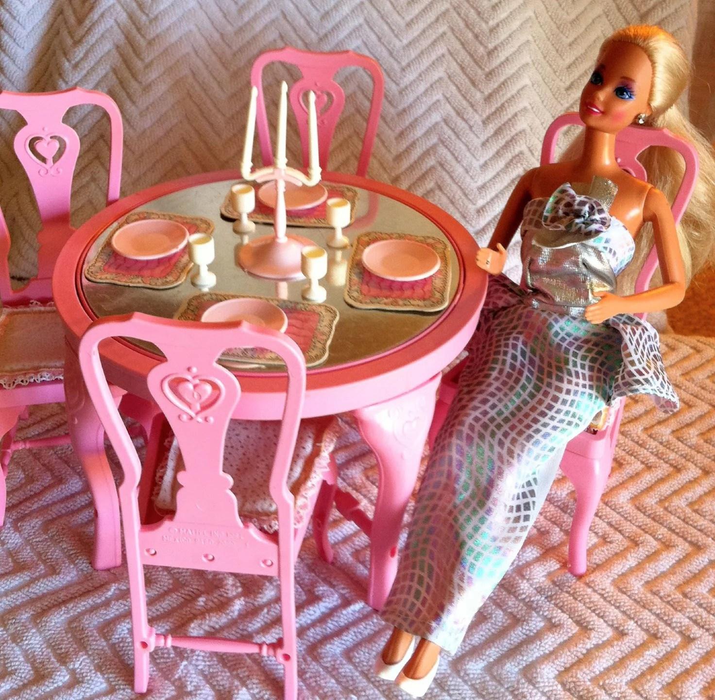 Vintage Barbie Dining Room