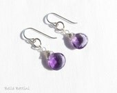 Purple Amethyst dangle earrings - BellaBettini