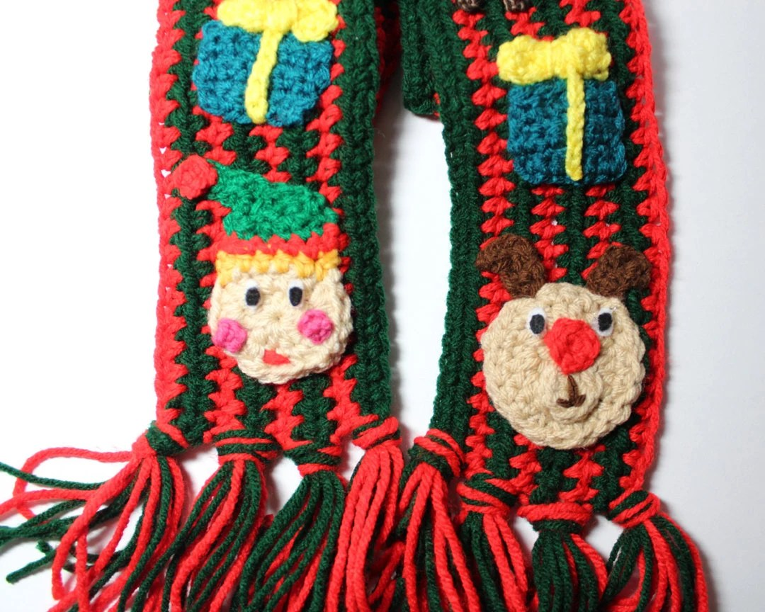 Ugly Christmas Scarf Holiday Crochet Scarf Ugly By
