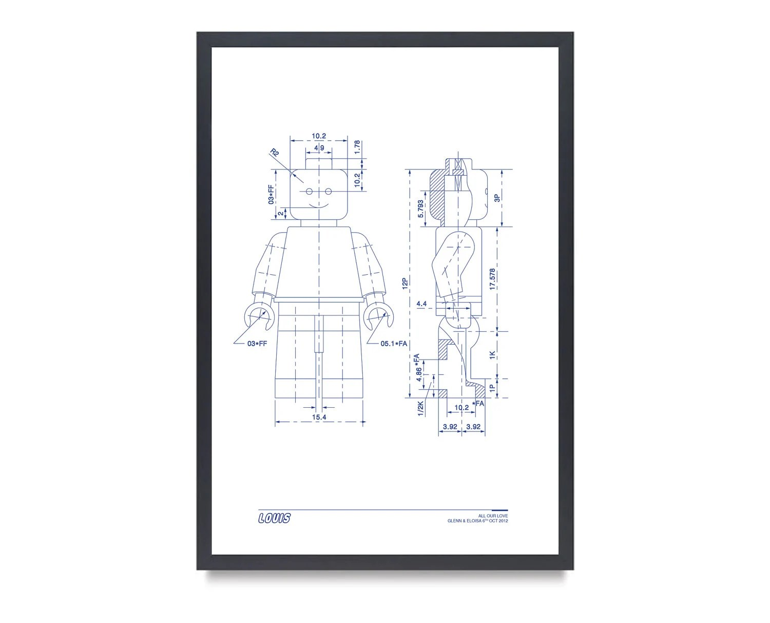 Special Request For Glenn LEGO MAN Art Print by ModaronPosters