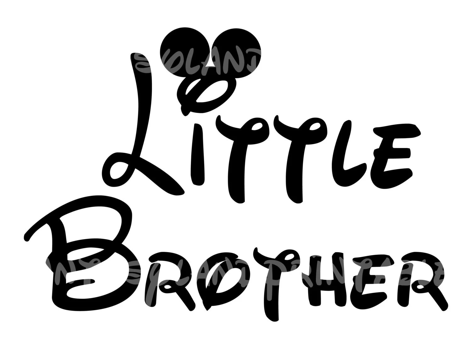 Little Brother Mickey Mouse Diy Printable Iron Transfer Disney