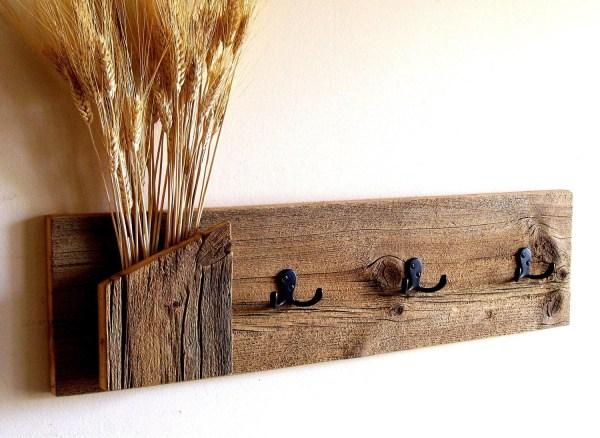 Rustic Wood Hat Rack