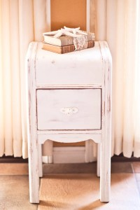 Antique White Shabby Chic NIghtstand