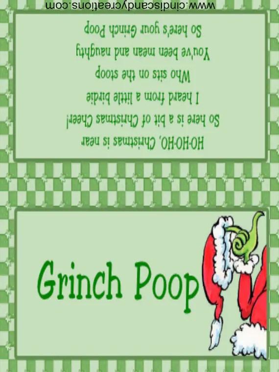 Grinch Poop
