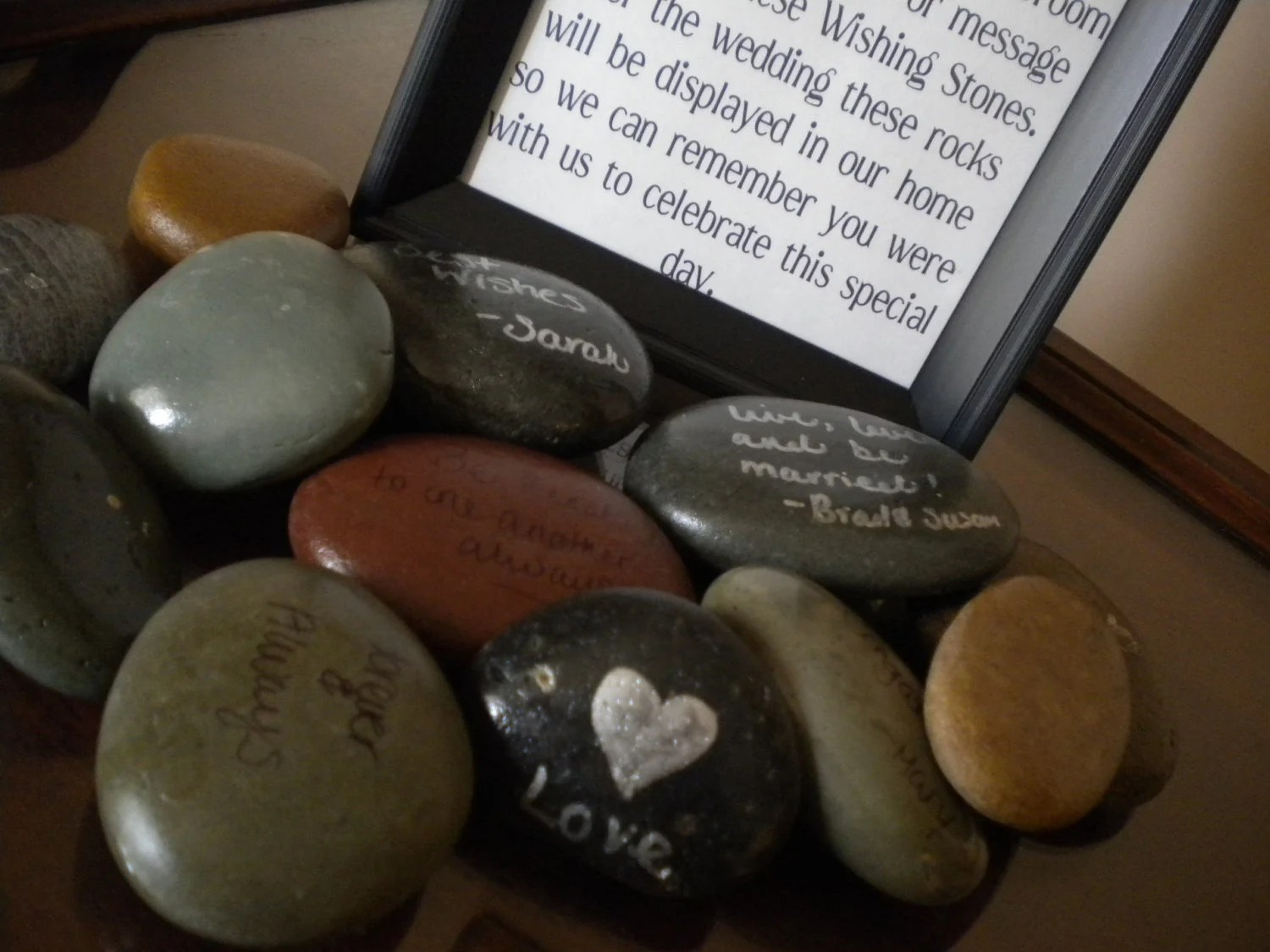 Wishing Stone Guest Book - Wedding Guest Book Alternative - - Set of 150 Color Mixture Stones