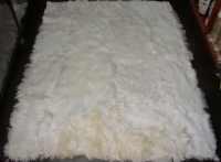 100% Peruvian baby Alpaca Fur Rug white 78.7'' x by