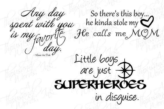 Digital Scrapbook Overlays Boy-Themed Word Art .png file