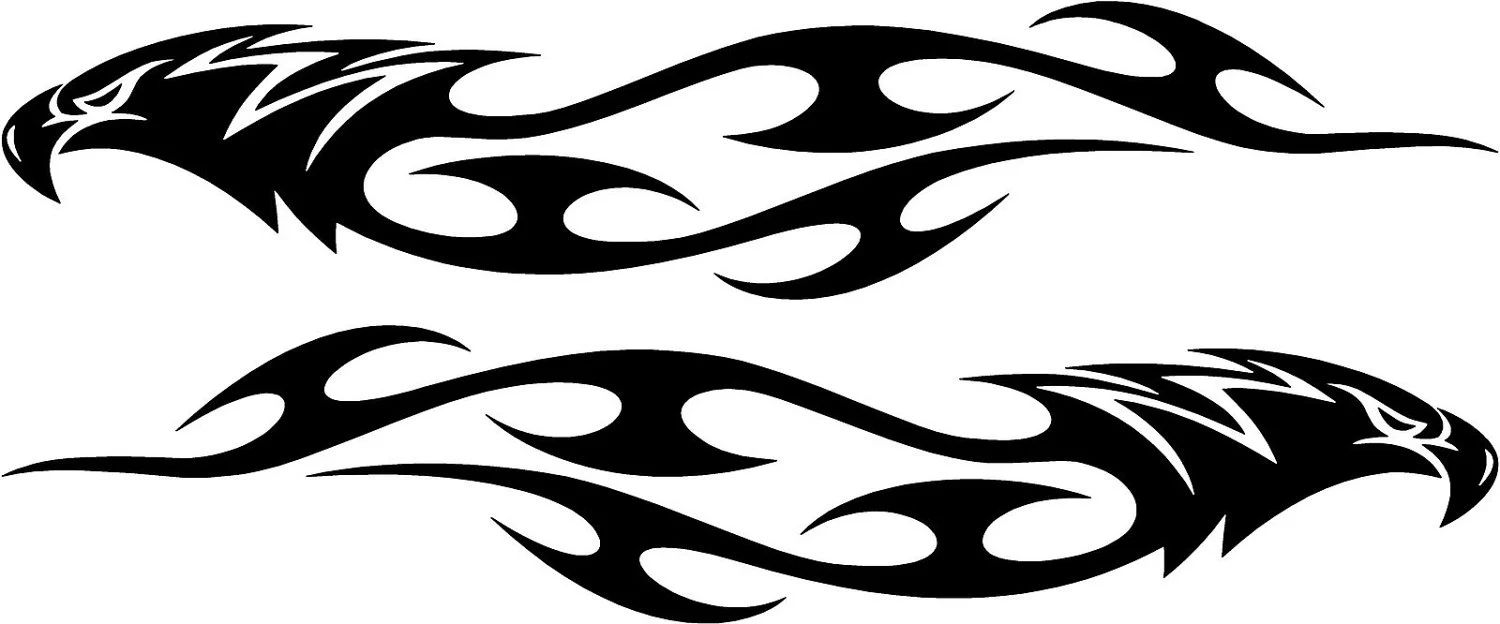 Set of 2 eagle flames tribal decals each is by vinylxsticker