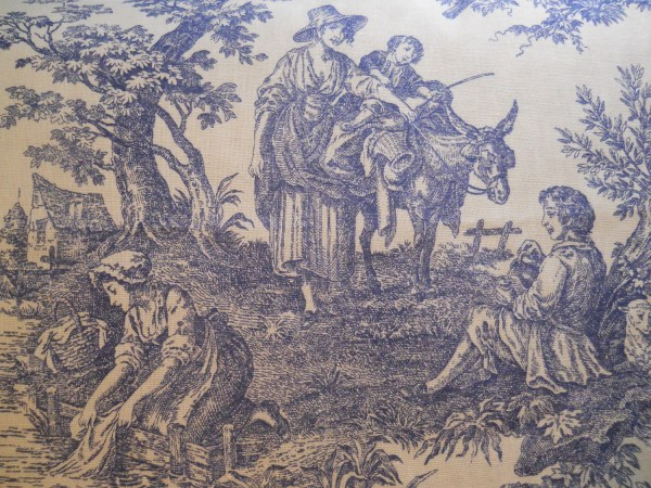 Blue Toile Fabric Waverly And White French Country