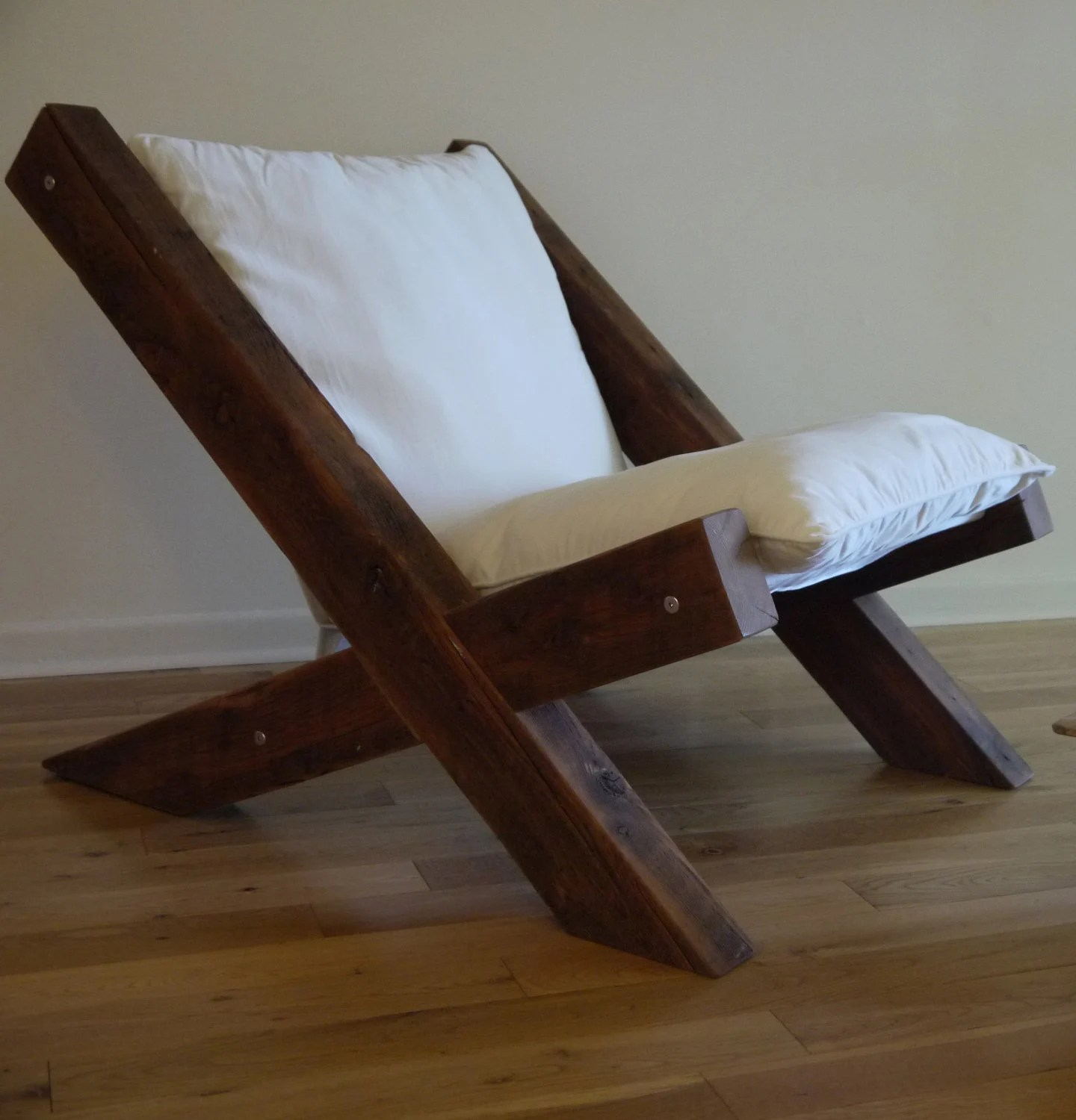 Wooden Lounge Chair Barn Wood Lounge Chair
