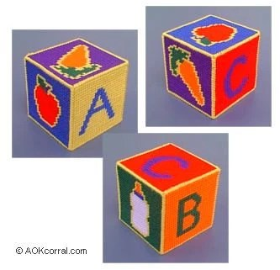 Plastic Canvas Alphabet Pattern Blocks