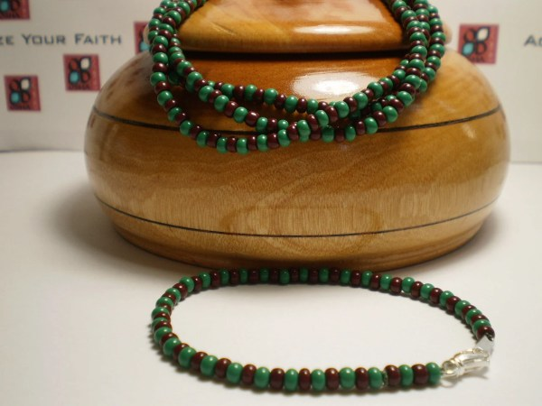 Green And Brown Beaded Bracelet Orula Ilde African Style
