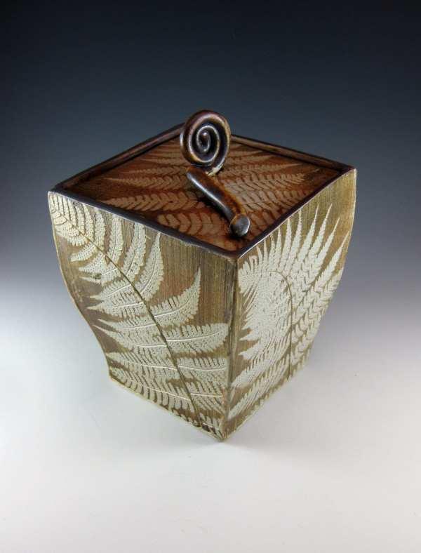 Ceramic Box Ceramic Urn Ceramic Box with Lid Woodland