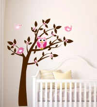 Owl Wall Decal Tree Vinyl Wall Decals Childrens Wall Art