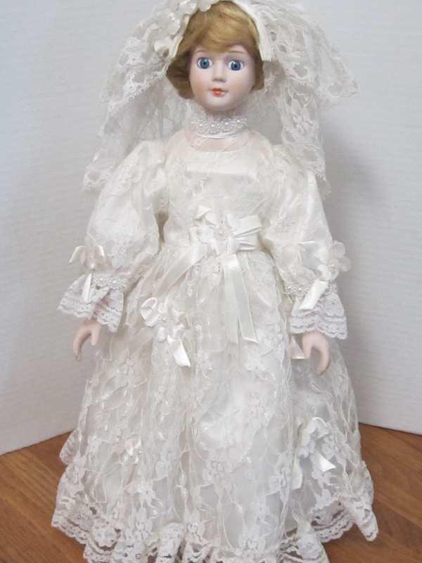 Jannette Richards 16 Porcelain Bride Doll Vintage