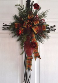 Christmas Cross Door Hanger Wall Decor Christian by ...