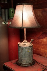 Handmade Upcycled Gas Can Lamp.