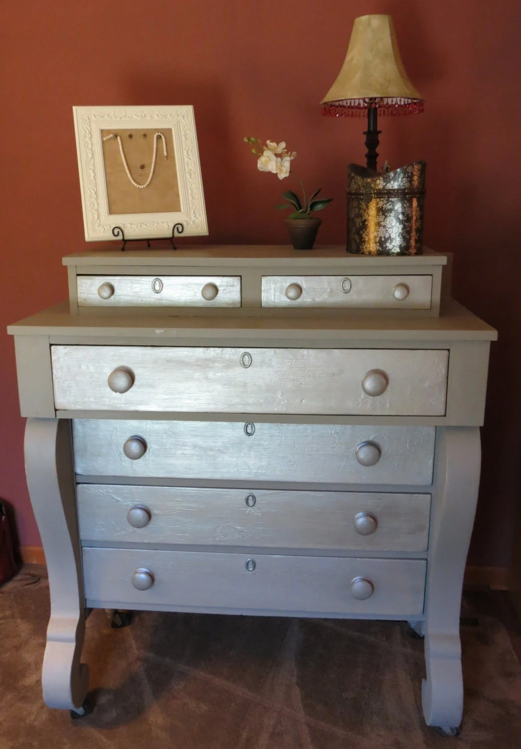 1800s Painted Empire Style Dresser by RefaireHomeDecor on Etsy
