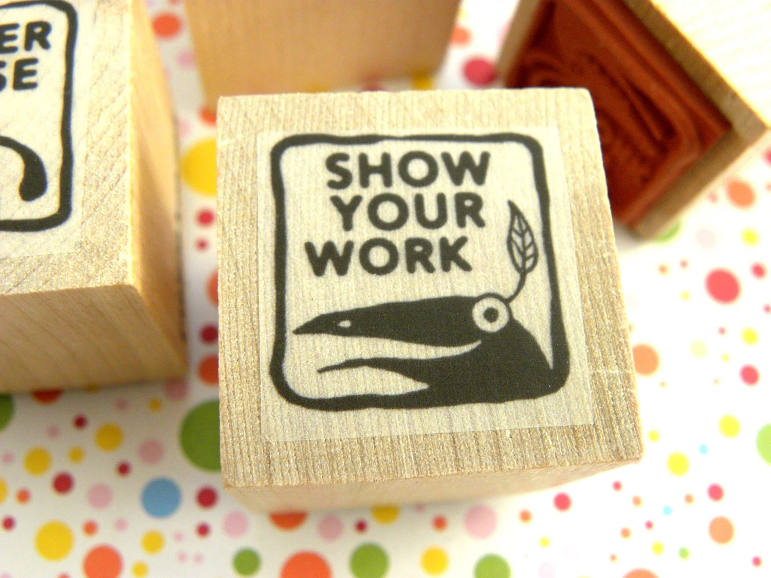 Show Your Work - Monster rubber stamp for teachers - fishcakesoboy