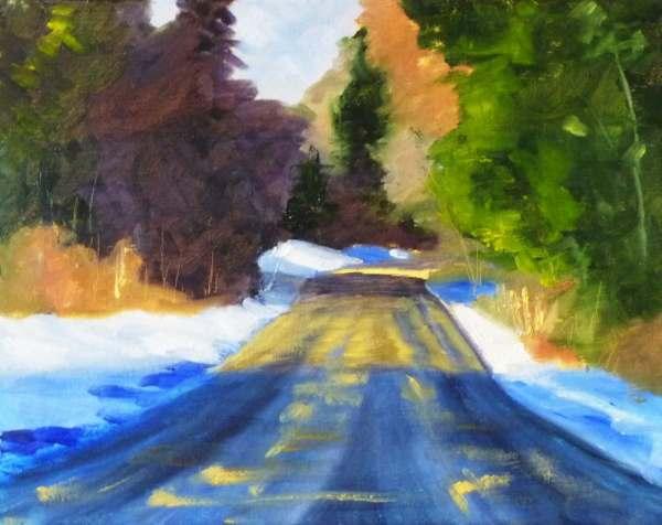winter landscape oil painting original