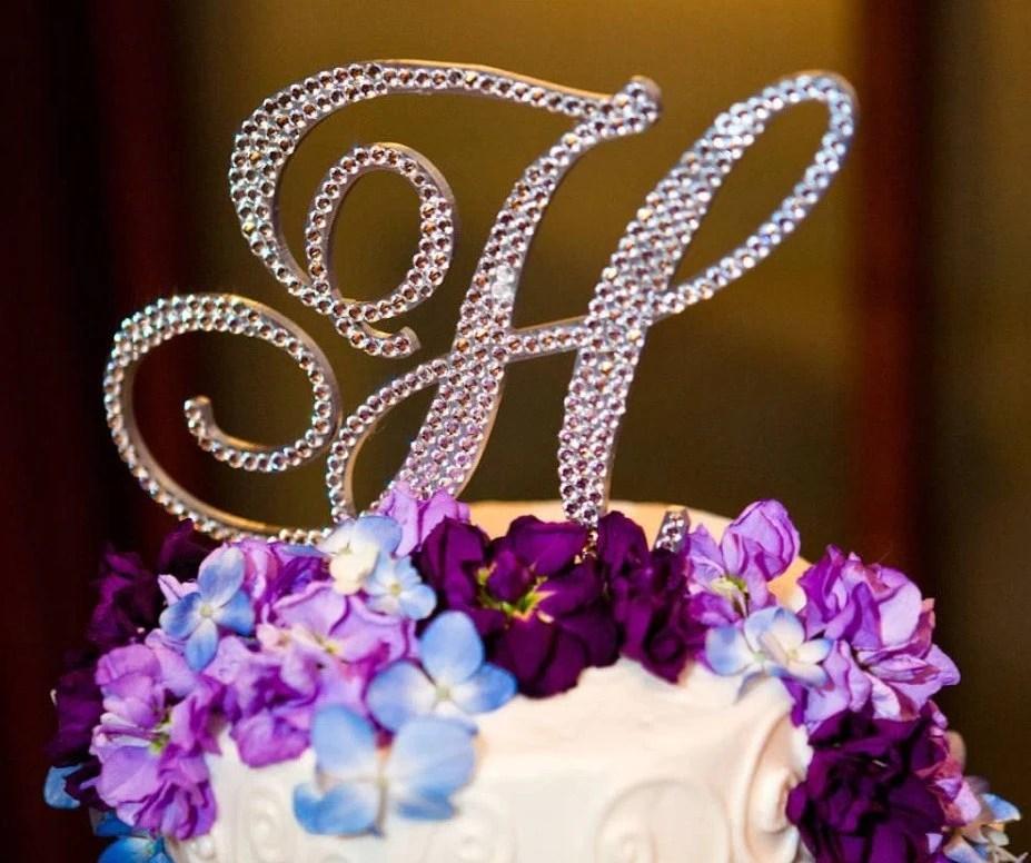 5 Monogram Cake Topper ANY Letter From The Alphabet