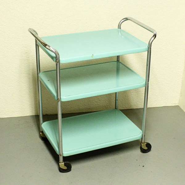 Vintage metal cart serving cart kitchen cart Cosco