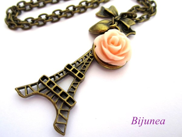 Eiffel Tower Necklace Paris Love