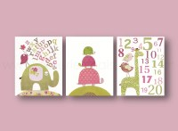 Baby Girl Room Decor nursery wall art kids wall art elephant