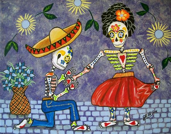 Frida Mexican Folk Art Paintings