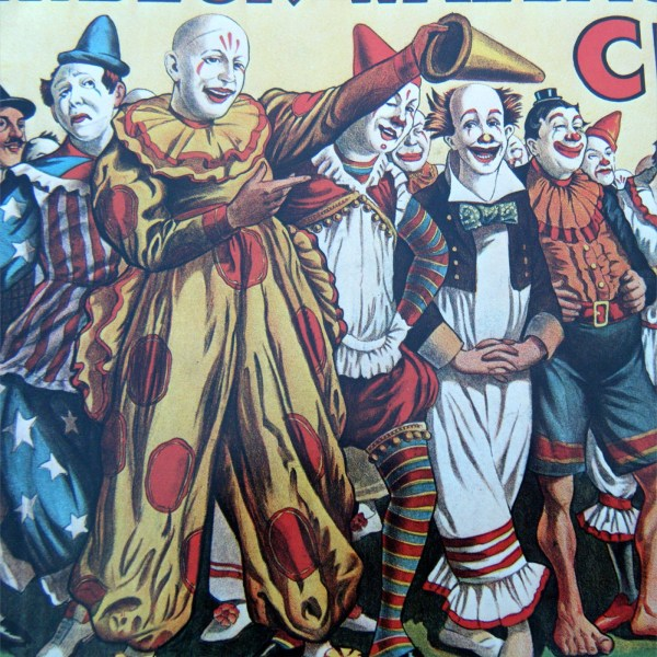 Army Of Clowns Snarling Leopard Vintage Circus Poster