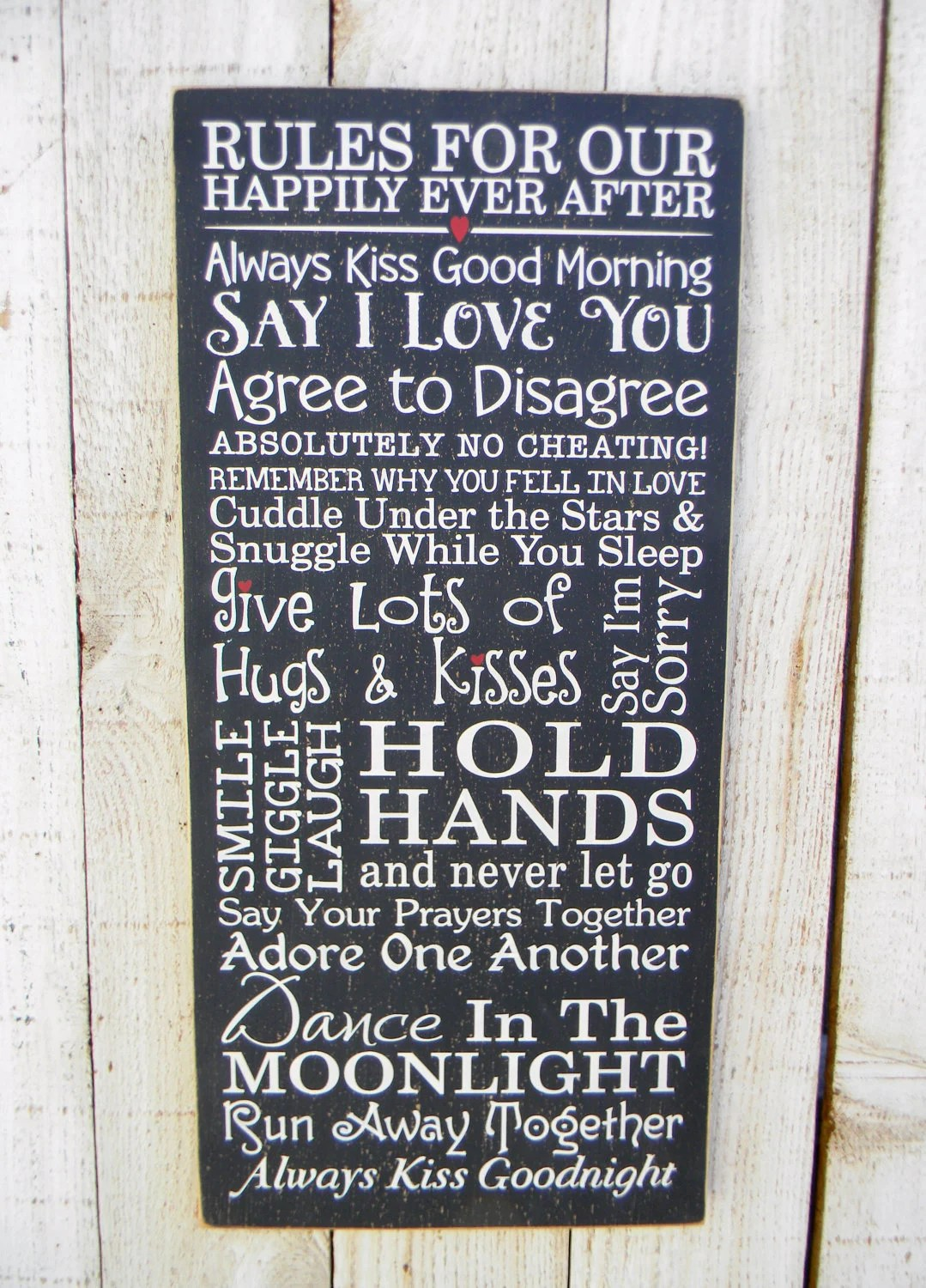 Rules For Our Happily Ever After Happy Marriage by