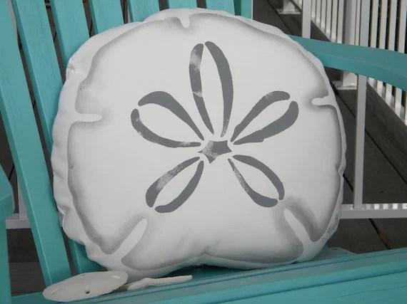 ARROWHEAD sand dollar SILHOUETTE pillow 17 43cm indoor