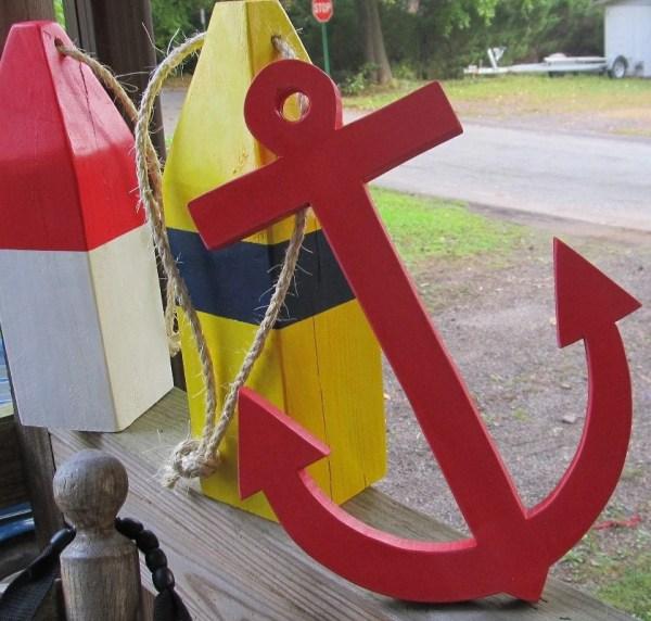 Nautical Wooden Anchor Decor