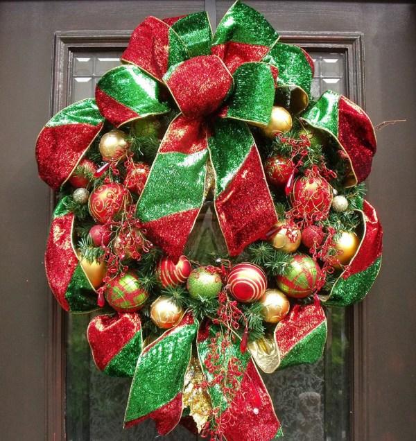 Christmas Wreath Ribbon Ornament