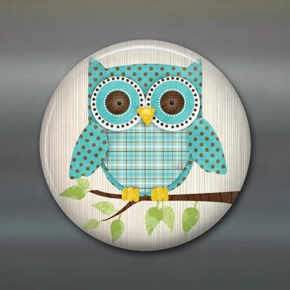 Items similar to cute owl fridge magnet, owl decor