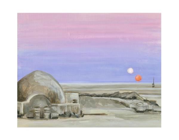 Star Wars Tatooine Sunset