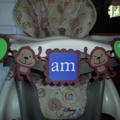 Monkey High Chair Covers To Rent Birthday Banner I Am 1 Boy