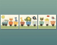Boy Nursery Decor Boy Nursery Wall Art Wall Art Baby Decor set