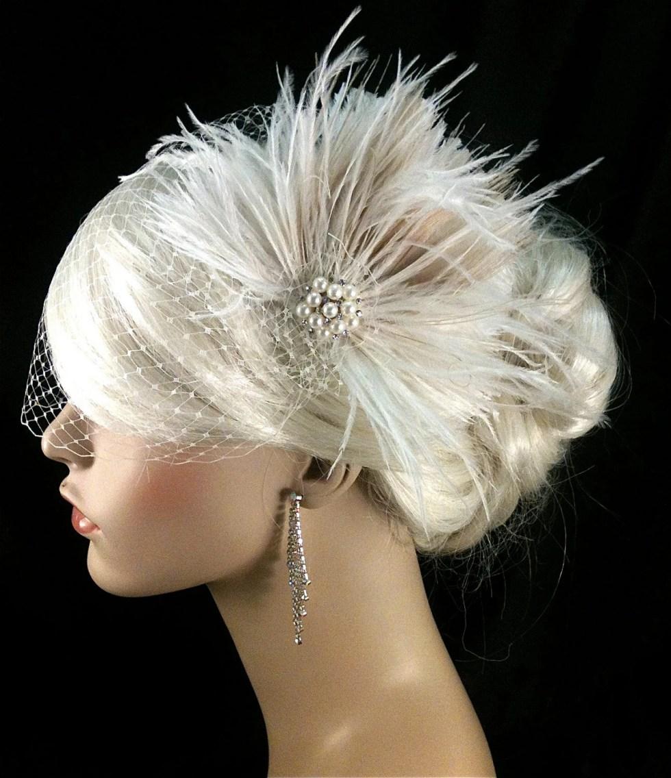 Wedding Hair  Fascinator, Wedding Headpiece, Wedding Hair Accessories, Gatsby Wedding, Great Gatsby Headpiece, Downton Abbey, Speakeasy