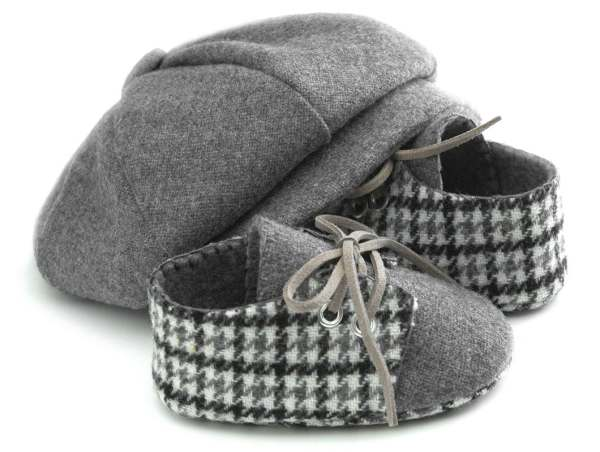 Baby Boy Hat and Shoes Set Newsboy Wool Baby Hats Ring