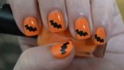 black bats halloween vinyl nail