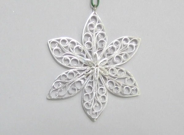 Quilled Christmas Ornaments Snowflake with by BarbarasBeautys